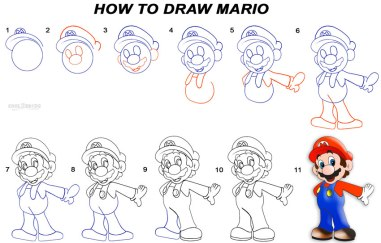 How-To-Draw-Mario-Step-by-Step